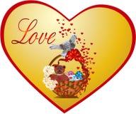 Postal en el día del `s de la tarjeta del día de San Valentín Imagen de archivo