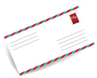 Postal envelope. Envelope with a postage stamp on a white background Royalty Free Stock Photo