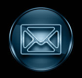 Postal envelope icon dark blue. Royalty Free Stock Photography
