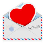 Postal envelope Stock Photos
