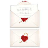 Postal Envelope with Love Letter Stock Photos