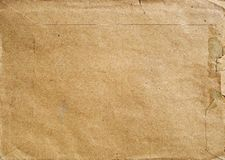 Postal envelope made of light brown recycled paper Royalty Free Stock Image