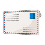 Postal envelope.Mail and postman single icon in cartoon style vector symbol stock illustration web. Royalty Free Stock Photo