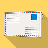 Postal envelope.Mail and postman single icon in flat style vector symbol stock illustration web. Stock Photography