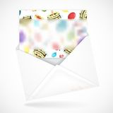 Postal Envelopes With Greeting Card Royalty Free Stock Image