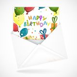 Postal Envelopes With Greeting Card Stock Image