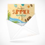 Postal Envelopes With Greeting Card royalty free illustration