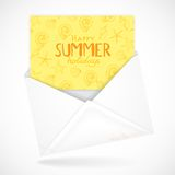 Postal Envelopes With Greeting Card Royalty Free Stock Images