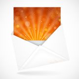 Postal Envelopes With Greeting Card Royalty Free Stock Photo