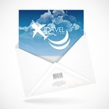 Postal Envelopes With Greeting Card Stock Photography