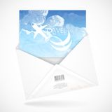 Postal Envelopes With Greeting Card Stock Photo