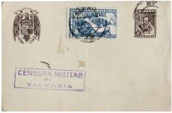 Postal española imagen de archivo