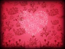 Postal feliz del día de tarjetas del día de San Valentín Imagen de archivo libre de regalías
