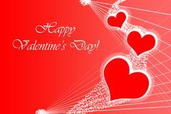 Postal feliz del día del ` s de la tarjeta del día de San Valentín Fotografía de archivo libre de regalías