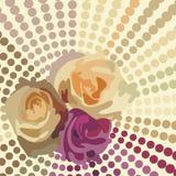 Postal floral Fotos de archivo libres de regalías
