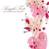 Postal floral del amor elegante de la tarjeta del día de San Valentín Imagen de archivo libre de regalías