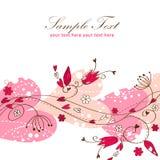 Postal floral del amor elegante de la tarjeta del día de San Valentín Imagen de archivo