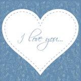 Postal floral encantadora del día de tarjeta del día de San Valentín Fotos de archivo