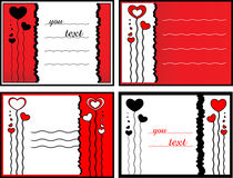 Postal with hearts Stock Photography