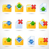 Postal icons Stock Photography