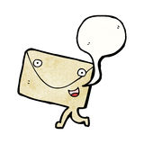 Postal letter cartoon character Royalty Free Stock Image