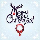 Postal linda de Navidad Foto de archivo libre de regalías