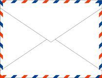 Postal mail for international letters Royalty Free Stock Photography
