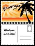 Postal, paisaje tropical Fotos de archivo libres de regalías