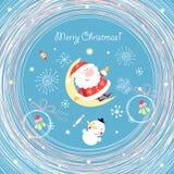 Postal Papá Noel Fotos de archivo