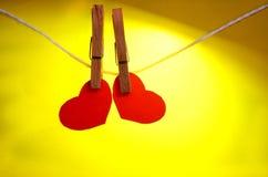 Postal para el día de tarjeta del día de San Valentín Imágenes de archivo libres de regalías