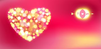 Postal para el día de tarjeta del día de San Valentín feliz. ilustración del vector