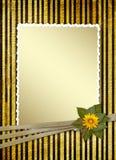 Postal para la invitación con el marco del oro Fotos de archivo