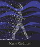 Postal para la Navidad libre illustration