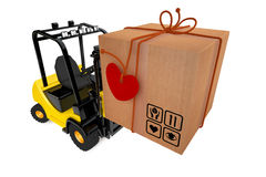 Postal parcel on loader Royalty Free Stock Photo
