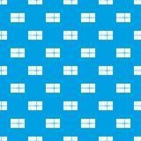Postal parcel pattern seamless blue Royalty Free Stock Photography