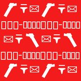 Postal pattern Stock Images
