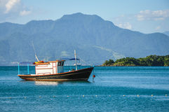 Postal perfect Bay, Ilha Grande island. Brazil. South America. Royalty Free Stock Photo