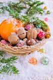 Postal por el Año Nuevo y la Navidad Imágenes de archivo libres de regalías