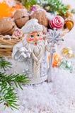 Postal por el Año Nuevo y la Navidad Imagenes de archivo