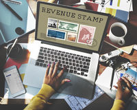 Postal Postage Mail Package Stamp Concept Stock Photos