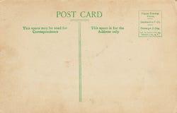 Postal posterior dividida de la vendimia fotografía de archivo libre de regalías