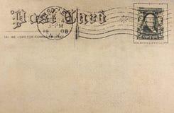 Postal retra fotografía de archivo libre de regalías