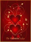 Postal roja 1 de la tarjeta del día de San Valentín Foto de archivo libre de regalías