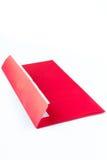 Postal roja Foto de archivo
