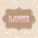 Postal romántica de la invitación de la tarjeta del día de San Valentín Fotos de archivo libres de regalías