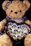 Postal romántica para el día del ` s de la tarjeta del día de San Valentín Imágenes de archivo libres de regalías