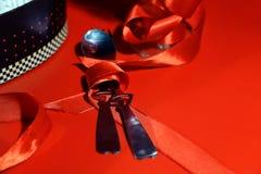 Postal romántica para el día del ` s de la tarjeta del día de San Valentín Fotografía de archivo libre de regalías