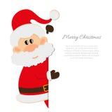 Postal Santa Claus con el espacio para el texto Fotos de archivo libres de regalías