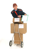 Postal service delivery Royalty Free Stock Photography