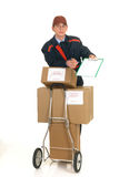 Postal service delivery Royalty Free Stock Photos
